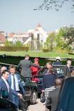 Visite officielle vers Strasbourg - visite royale Photos stock