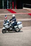 Visite officielle vers Strasbourg - visite royale Images stock
