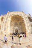 Visite Taj Mahal de personnes à Âgrâ, Image libre de droits