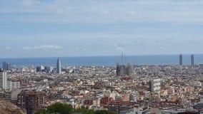 Visite touristique à Barcelone Image stock