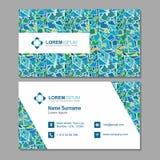 Visitekaartje, adreskaartje met abstract veelhoekig patroon Ve Stock Afbeeldingen