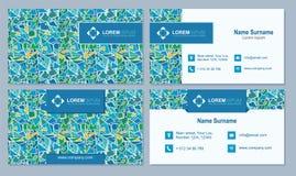 Visitekaartje, adreskaartje met abstract veelhoekig patroon Ve Stock Foto