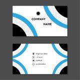Visitekaartje of adreskaartje met blauwe ringen Stock Afbeeldingen