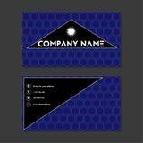 Visitekaartje of adreskaartje met zeshoeken Royalty-vrije Stock Afbeeldingen