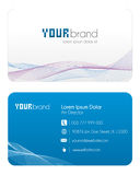 Visitenkarte   Blau Stockfoto