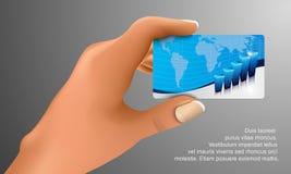 Visitenkarte in der Hand Stockfoto