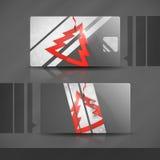 Visitenkarte-Design mit Papierweihnachtsbaum. Stockbild
