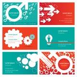Visitenkarte-Design-Schablone Stockfoto