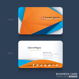 Visitenkarte-Design-Schablone Lizenzfreies Stockfoto