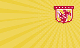 Visitenkarte-Energie-Störungssucher-Telefon-Schlosser Shield Lizenzfreies Stockfoto