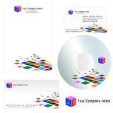 Visitenkarte für Firma - Briefkopfschablone Stockbild