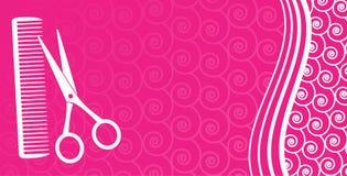 Visitenkarte für Haarsalon Stockbilder