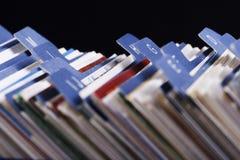 Visitenkarte-Index-Halterung Lizenzfreie Stockfotos