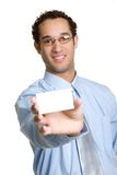 Visitenkarte-Mann Lizenzfreies Stockbild