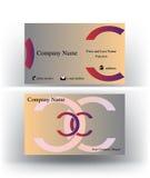 Visitenkarte mit doppeltem c-Buchstaben Lizenzfreie Stockbilder