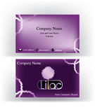 Visitenkarte mit lila Baum Lizenzfreie Stockfotografie
