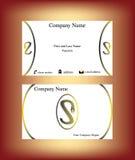 Visitenkarte mit s-Buchstaben gemacht vom Reißverschluss Stockbild
