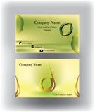 Visitenkarte mit Tropfenlogo und Zitronenform Lizenzfreies Stockbild