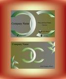 Visitenkarte mit zwei grünen c-Buchstaben Stockbilder