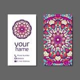 Visitenkarte oder Einladung Dekorative Elemente der Weinlese Lizenzfreie Stockbilder