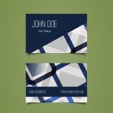 Visitenkarte-Schablone mit abstraktem Hintergrund Stockfotografie