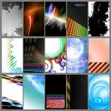 Visitenkarte-Schablonen-Ansammlung Stockfotos