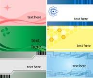 Visitenkarte, Set von 6 Auslegungen Stockfotos