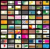 Visitenkarte Template-Set2 stock abbildung