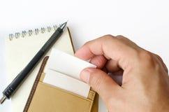 Visitenkarte und Kartenhalter lizenzfreies stockfoto
