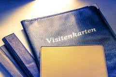 Visitenkartehalter und andere Notizbücher Lizenzfreie Stockfotografie