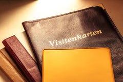 Visitenkartehalter und andere Notizbücher Lizenzfreie Stockbilder