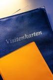 Visitenkartehalter und andere Notizbücher Lizenzfreie Stockfotos