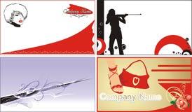 Visitenkarten. Art und Weise und Art lizenzfreie abbildung