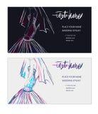 Visitenkarten des Hochzeitsstilisten Stockfoto