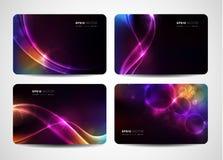 Visitenkarten mit abstrakter Leuchte Lizenzfreie Stockfotos