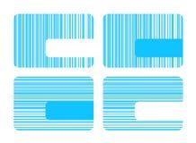 Visitenkarten mit blauen Streifen Lizenzfreie Stockfotos