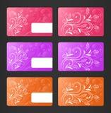 Visitenkarten mit Blumenthema Lizenzfreie Stockfotografie