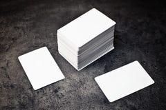 Visitenkarten mit gerundeten Ecken Lizenzfreies Stockfoto