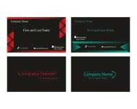 Visitenkarten mit Pfeillogo Stockfotos