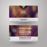 Visitenkarten mit unscharfem abstraktem Hintergrund Stockbilder