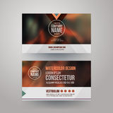 Visitenkarten mit unscharfem abstraktem Hintergrund Lizenzfreies Stockbild