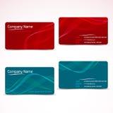 Visitenkarten, Schablone oder Visitenkartesatz Lizenzfreie Stockbilder