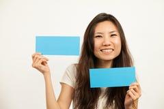 Visitenkarten und leere Zeichen Lizenzfreies Stockbild
