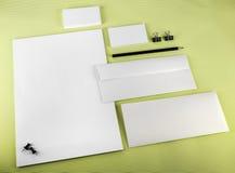 Visitenkarten und Zeichen-Schablone Stockbilder