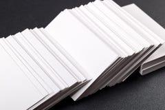Visitenkarten verspotten oben Lizenzfreie Stockbilder