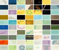Satz mit 70 Visitenkarten Stockfotos