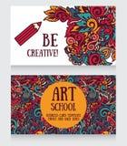 Visitenkarteschablone für Kunstakademie Lizenzfreie Stockbilder