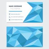 Visitenkarteschablone polygonal Lizenzfreies Stockfoto