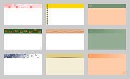 Visitenkarteschablonen lizenzfreies stockbild