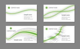 Visitenkarteschablonen Stockbilder